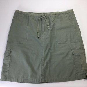 Cabela's Cargo Skirt~Olive Green~Hiking~Casual~